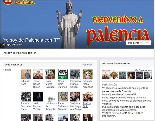 04cc09ed471d0 Imagen de una de los perfiles de Facebook relativos a Palencia