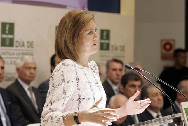 Cospedal agradeció a los castellano-manchegos el esfuerzo realizado estos años.