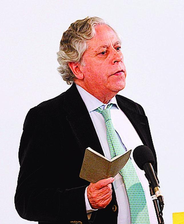 Miguel Ángel Aguilar recordó que no siempre se abre uno camino a través de la vileza.  JUAN LAZARO