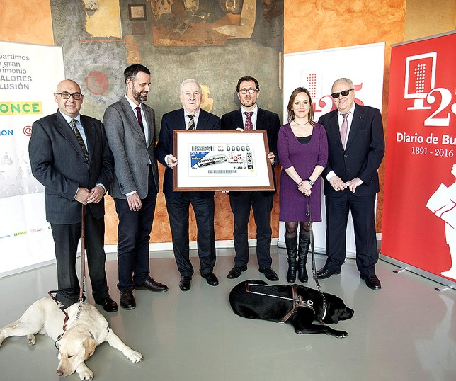 La ONCE el próximo día 11 de abril dedicará su cupón del dia al aniversario que celebra Diario de Burgos.  Jesús Javier Matías