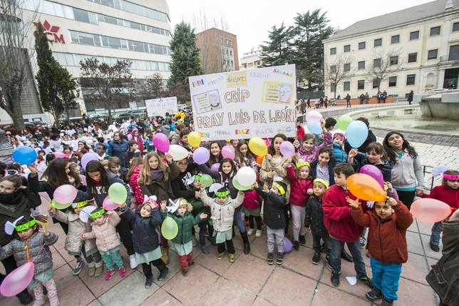 Estudiantes de Infantil y Primaria del colegio Fray Luis de León.