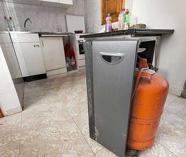 En otros el calor llega a través de estufas.