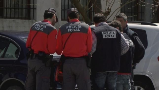 Agentes de la Policía Foral de Navarra Natv