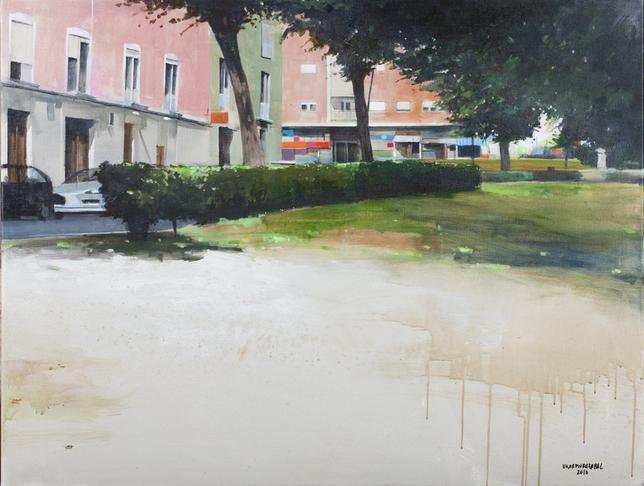 Jesús Ukar logró el segundo premio con esta pintura.
