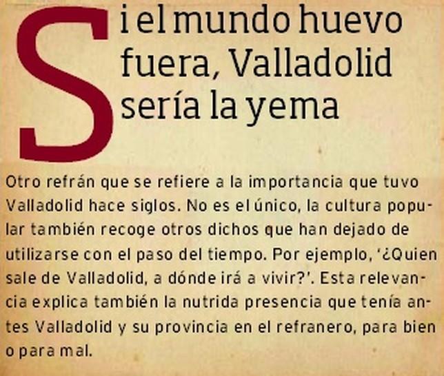 Refranes de Valladolid.