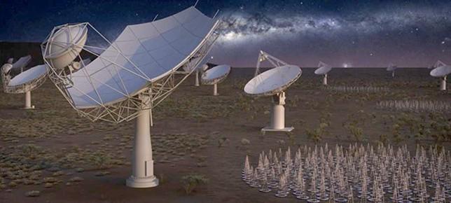Recreación artística de antenas del SKA. /Foto: SKA Organisation  CSIC