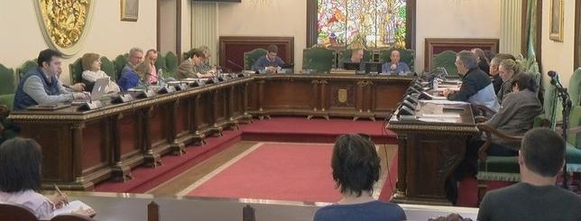 Comisión de presidencia celebrada este lunes en el Ayuntamiento de Pamplona