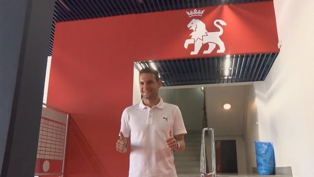David Rodríguez, primero en llegar a Osasuna