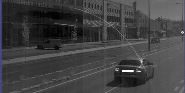 Conductor detectado a 128 km/h por la avenida de Burgos en 2018. Policía Local