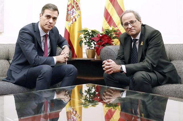 Sánchez y Torra abren la puerta al diálogo Andreu Dalmau
