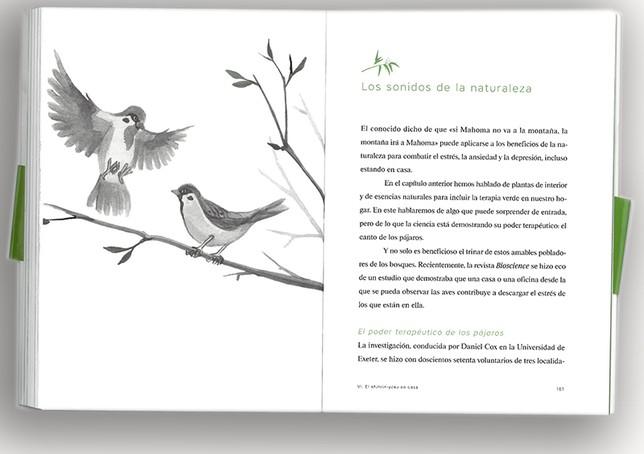Una de las páginas del libro Shinrin yoku