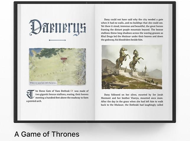 Uno de los libros visualizados  / Apple