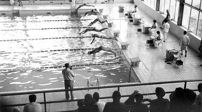 Imagen de una competición en El Plantío en 1989.  DB