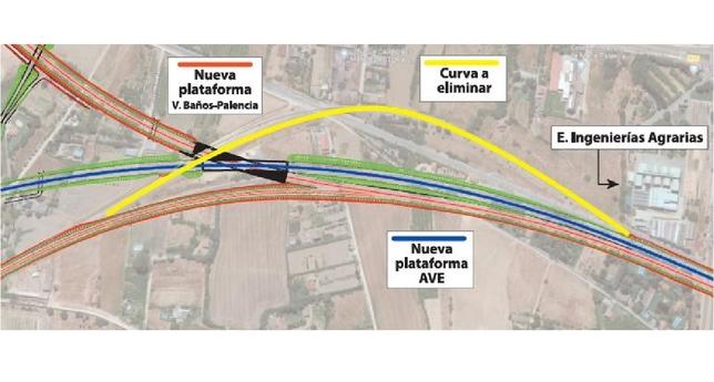 Adif abre trámites contra la curva de Angrois palentina