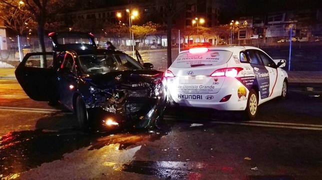 Herido un taxista en un accidente con un conductor bebido