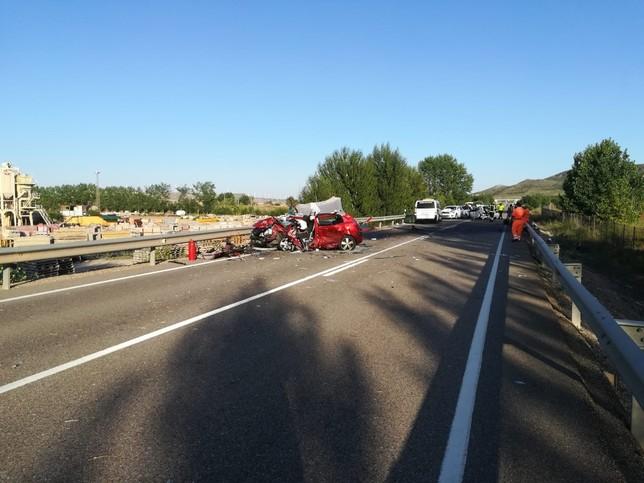 Dos heridos graves y dos leves en un accidente en la CL-619