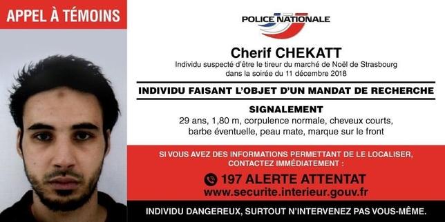 El terrorista de Estrasburgo es un delincuente radicalizado HANDOUT