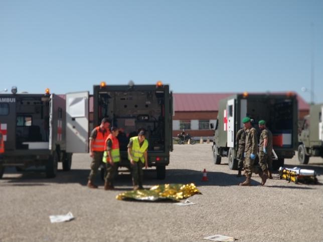 Simulacro de atentado yihadista en la base de Castrillo