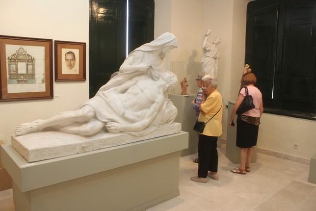 Imagen del Museo dedicado a florentino Trapero en el Ayuntamiento de Aguilafuente.
