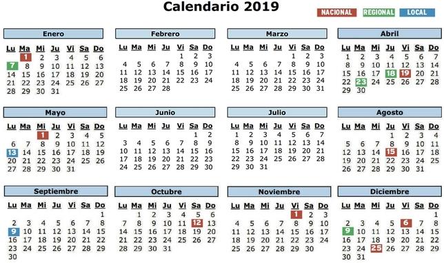Calendario Diciembre 2018 Con Festivos.El Calendario Laboral Regalara El Mayor Macropuente En Anos