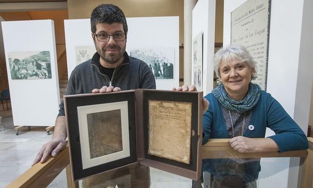 David Blasco y María de los Santos García presentaron la imagen en el Encuentro de Fotografía.