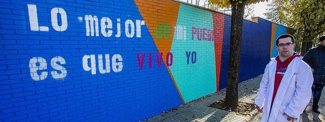 Un muro filosofal y de creatividad Rueda Villaverde
