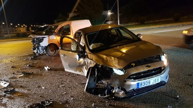 Accidente de tráfico en Eduardo Saavedra con heridas leves