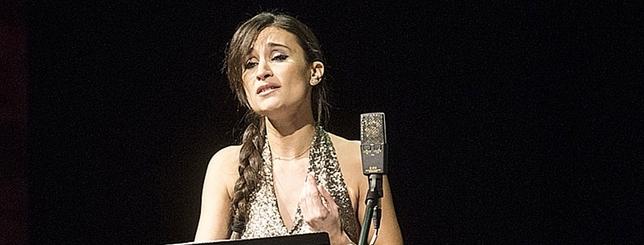 La soprano Ítaca Vicente, durante su actuación.  Yolanda Redondo