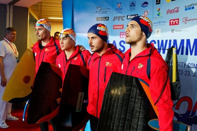 Téllez roza el podio en el Mundial de natación con aletas