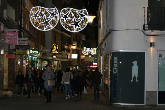 La calle Aduana durante la Noche Blanca. D. R.