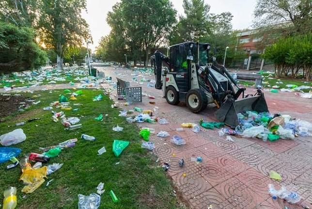 64.000 kilos de basura en la Pandorga