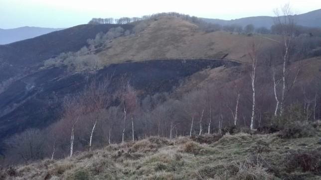 Los bomberos dan por extinguido el incendio de Goizueta