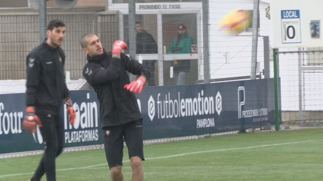 Rubén Martínez y Sergio Herrera son los porteros del primer equipo de Osasuna NATV