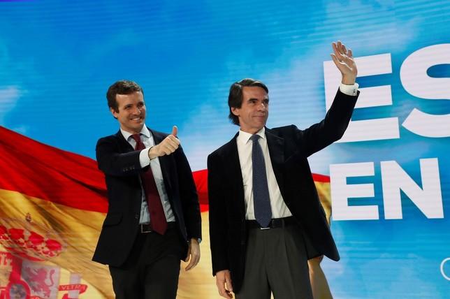 Aznar vuelve a pedir el voto para la