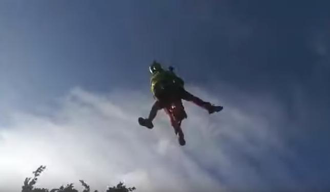 Rescatado en helicóptero un senderista en la zona de Eugi