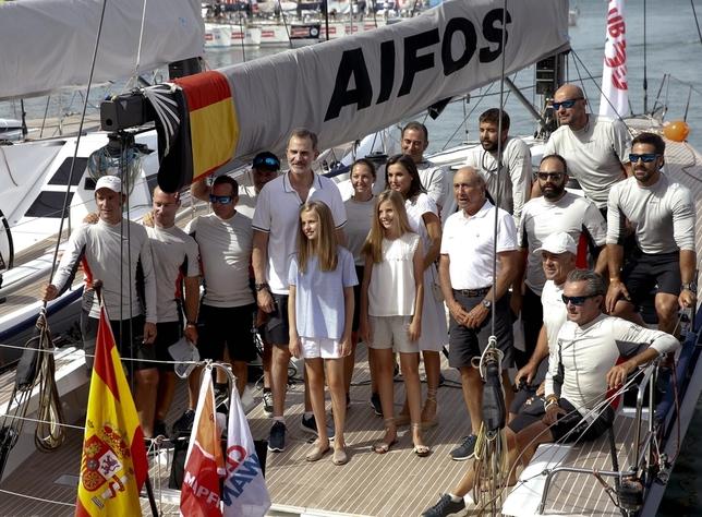 Los Reyes y sus hijas comienzan sus vacaciones en Palma