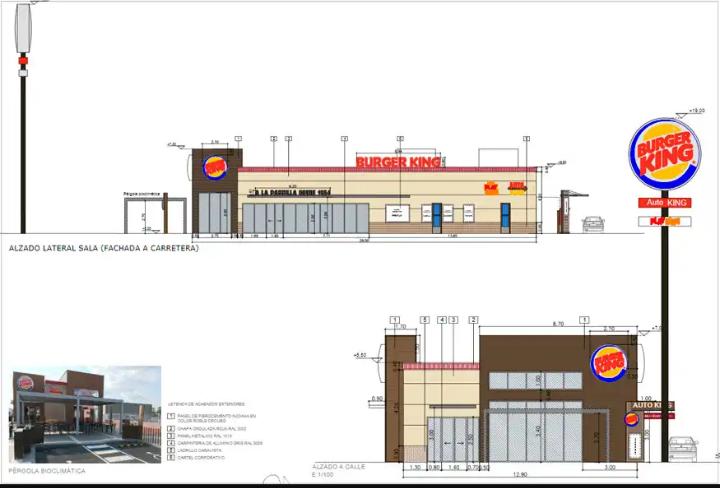 Planos de la hamburguesería del Carrascalejo