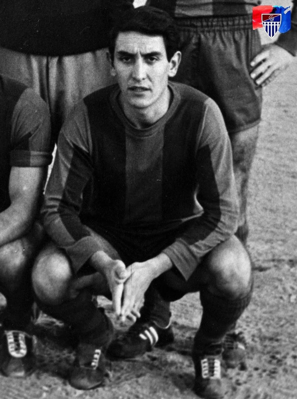 Jaime Rodríguez Gómez, en su etapa como futbolista de la Gimnástica Segoviana, en una imagen perteneciente al archivo recopilado por el fotógrafo Juan Martín.