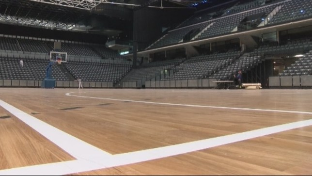 El Arena se prepara para acoger a la selección de baloncesto