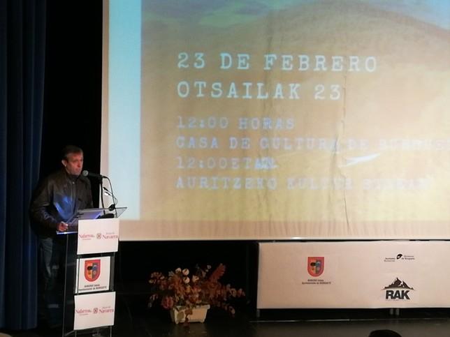 Txiki Telletxea, Alcalde de Auritz-Burguete en el acto de presentación