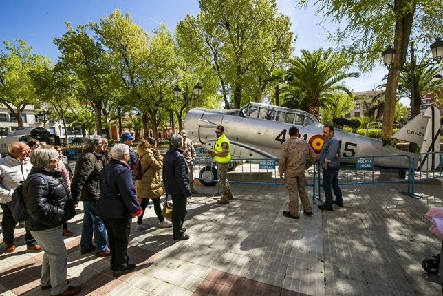 El ejército del aire se exhibe en el Prado Rueda Villaverde