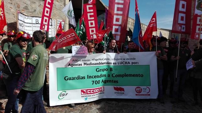 Protesta de los agentes medioambientales por mejoras