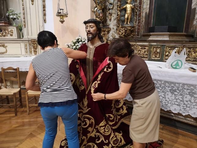 El Jesús Nazareno de Almazán, listo para la Subida