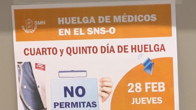La huelga médica con menor seguimiento, según Salud