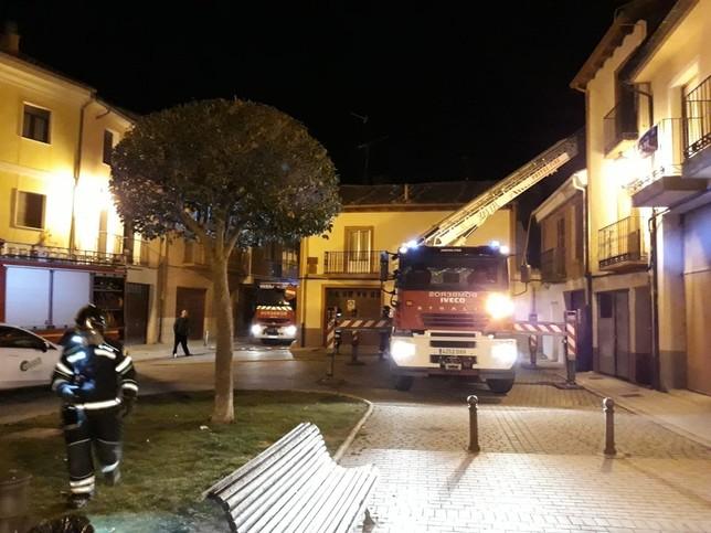 Sofocan un incendio de madrugada en una vivienda de Peñafiel