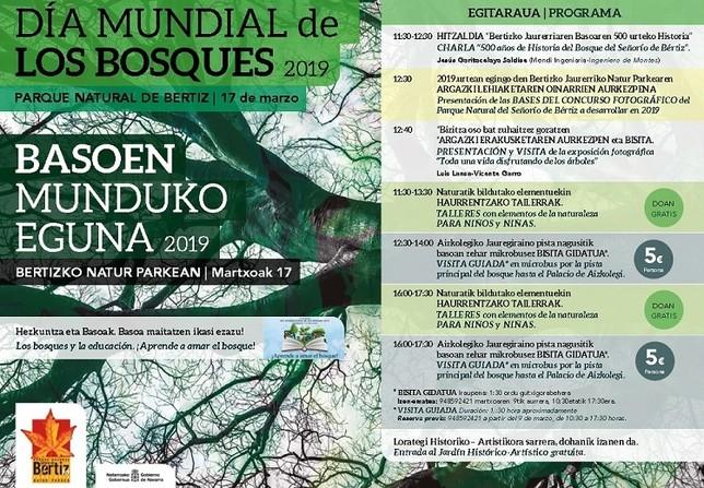 Bertiz celebra este domingo el Día Mundial de los Bosques