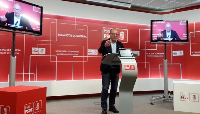 Rueda de prensa del Partido Socialista de Navarra