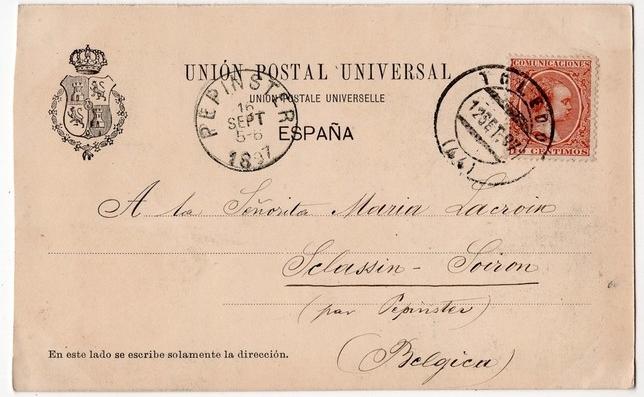 Subastan en Bélgica la postal más antigua de Toledo