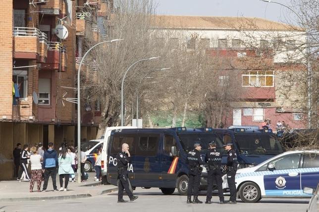 La Milagrosa fue escenario de un gran despliegue de la Policía Nacional.