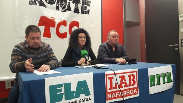 Tres sindicatos de TCC anuncian paros en las 'villavesas'